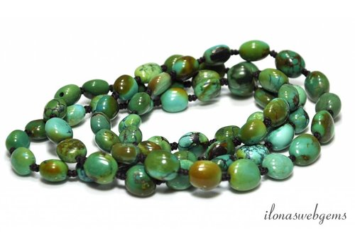 Double strand Turquoise beads about 12x10mm