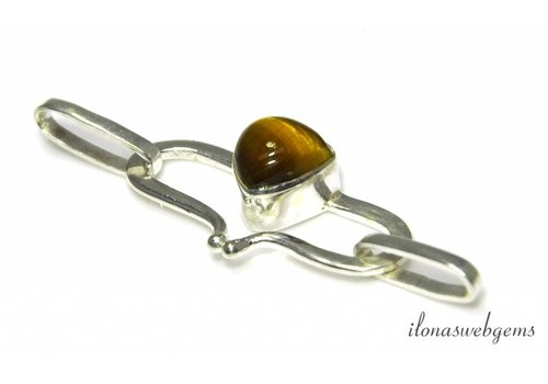 Sterling silver hook clasp with Tiger eye