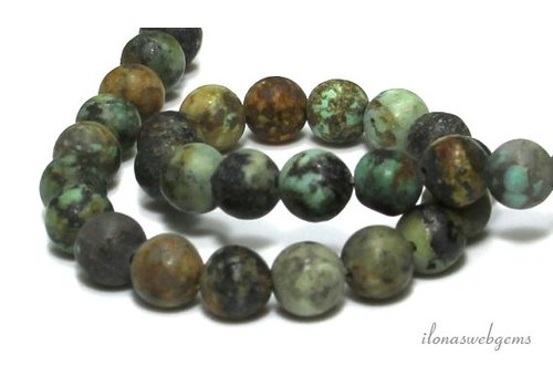 New African Turquoise beads mat around 8mm