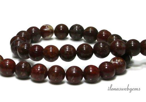 Red Jasper beads around approx. 8mm