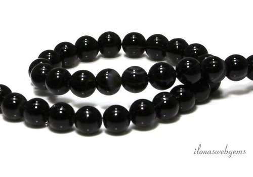 Black stripe Agate beads around 8mm - Copy