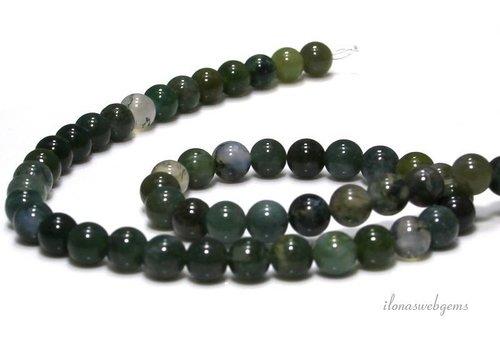 Moss agate beads around 6.5mm