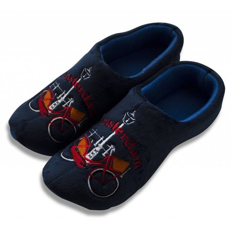 Holland slippers bicycle blue