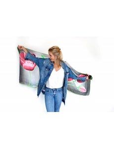 Tulpensjaal Grijs/roze