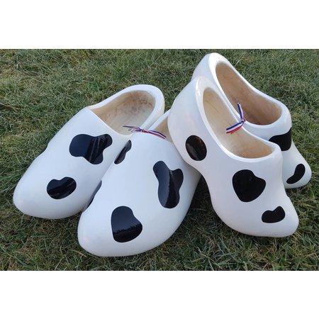 koeienklompen met koeienvlekken