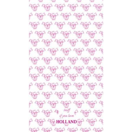 Toweltje Toweltje roze tulpen