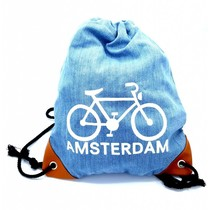 Amstel Bag light blue bike