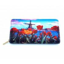Vondel Wallet Molen met rode tulpen