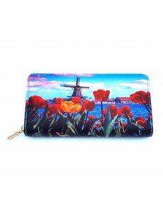 Vondel Wallets Vondel Wallet Molen met rode tulpen