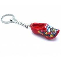Woodenshoe keyhanger 1 shoe Red