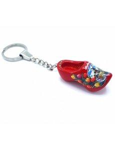 Holzschuh Schlüsselanhänger 1 Schuh Rot