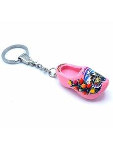 Holzschuh Schlüsselanhänger 1 Schuh Pink
