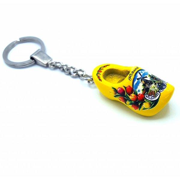 Woodenshoe keyhanger 1 shoe Yellow