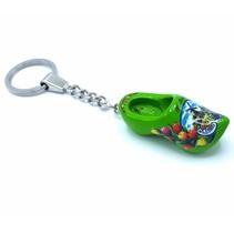 Woodenshoe keyhanger 1 shoe Green