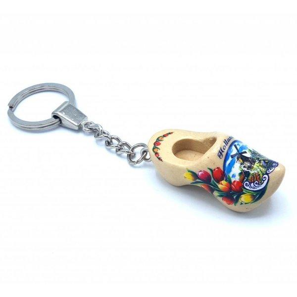 Holzschuh-Schlüsselanhänger 1 Schuhrohling