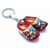 Woodenshoe keyhanger 2 shoes Red sole