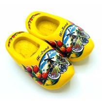 Woodenshoe magnet 4cm Yellow