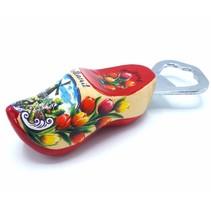 Bottle opener clog 8cm Red sole