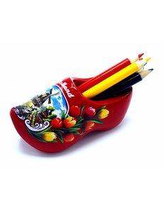 Bleistift Clogs mit 6 Stiften Rot
