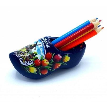 Potloodklompje met 6 potloden Blauw