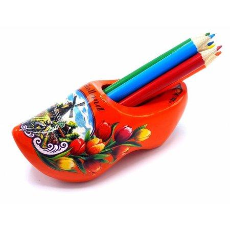 Pencil clog with 6 pencils Orange