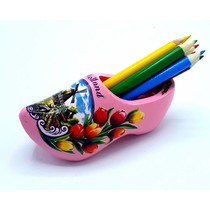 Pencil clog with 6 pencils pink