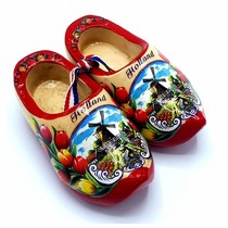 Souvenir woodenshoes 8cm red sole
