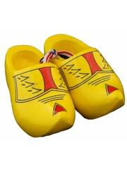 Souvenir woodenshoes 8cm Farmer yellow
