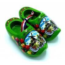 Souvenir woodenshoes 8cm green