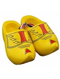Souvenir woodenshoes 12cm farmer yellow