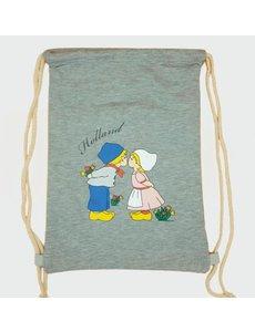 Amstel bags Draw string bag kissing couple gray