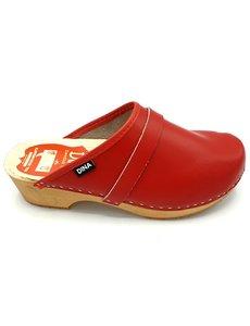 DINA Schwedische Clogs - schlicht rot - Clogs von Dina