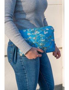 Celdes Schoudertasje/purse van gogh amandelbloessem