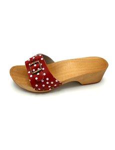 DINA Sandalen Rode dots smalle gesp - kleppers -