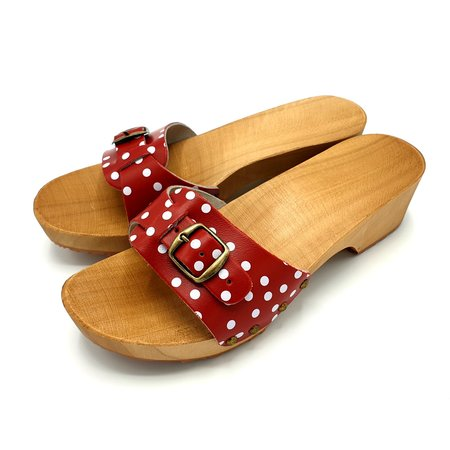 DINA Slippers red dots