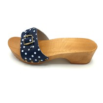 Slippers blue dots