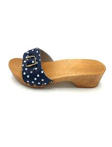 DINA Sandalen blauwe dots smalle gesp -kleppers-