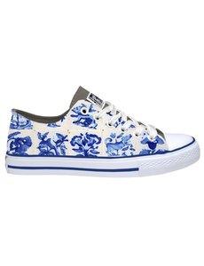 Hollandse sneakers 'Delftblue tiles'
