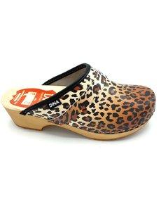 DINA Swedish clogs leopard print - Dina  clogs -