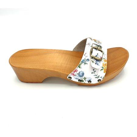 DINA Slippers white flower design