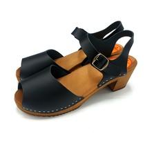 Black nubuck heel open