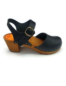 DINA Black nubuck heel