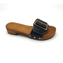 Sandalen  zwart met brede gesp