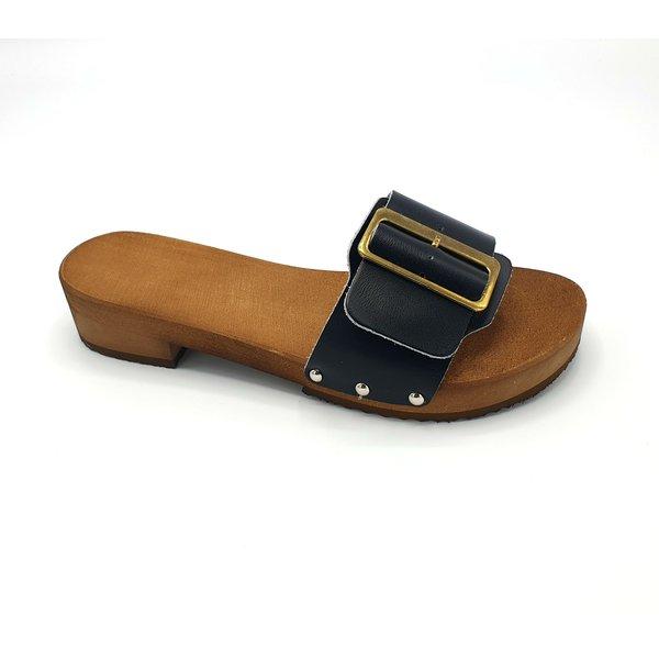 DINA Sandalen  zwart met brede gesp