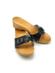 DINA Wooden sandals black -slippers-