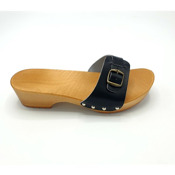DINA Wooden sandals black -slippers-