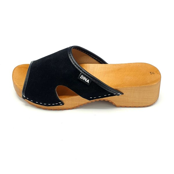 DINA Sandalen Zwart (kleppers van Dina)