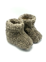 DINA slippers 100% wool grey