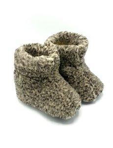 DINA Hausschuhe 100% Wolle grau hoch unisex