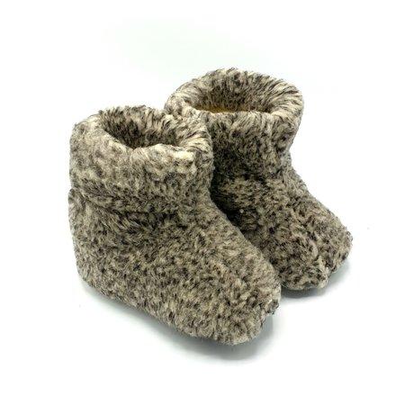 DINA slippers 100% wool grey